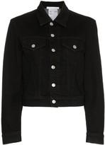 Helmut Lang cropped boxy denim jacket
