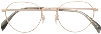 David Beckham Full-Rim Oval Frame Glasses