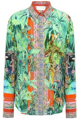 Camilla Crystal-embellished Printed Silk Crepe De Chine Shirt
