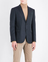 Armani Collezioni Houndstooth slim-fit wool jacket