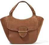 Michael Kors Josie Large Suede And Leather Tote - Brown