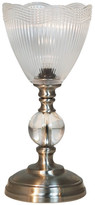 "Dale Tiffany Springdale 12"" Crown Silver Crystal Accent Lamp"