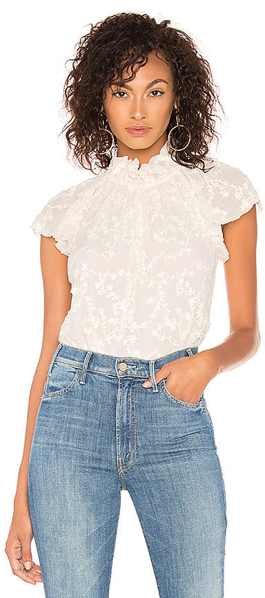 Rebecca Taylor Ellie Embroidery Top