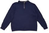 Fruit of the Loom Navy & Charcoal Quarter-Zip Pullover - Men's Regular