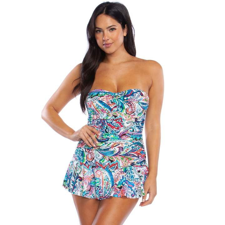 52f2ac61a67 Ruched Skirted Swimsuit - ShopStyle