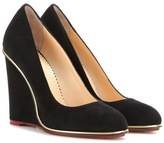 Charlotte Olympia Carmen 100 Suede Wedges