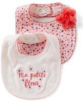 Kate Spade Baby Girls Floral-Print 2-Pack Bib Set