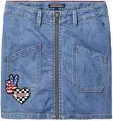 Tommy Hilfiger Girls Badge Denim Skirt