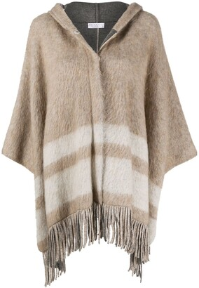 Brunello Cucinelli Tassel Trim Cape
