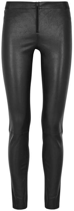 Alice + Olivia Black Leather Leggings