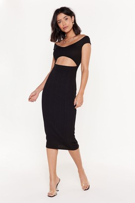 Nasty Gal Womens Love Me If You Bare Cut-Out Bandage Midi Dress - black - 8