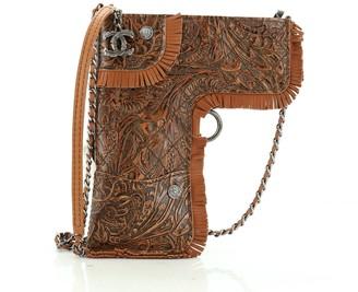 Chanel Paris-Dallas Holster Shoulder Bag Quilted Embossed Fringe Leather