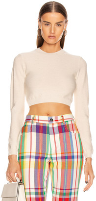 Area Knit Crop Top in Ivory | FWRD
