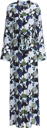 Equipment Britten Floral-print Silk Crepe De Chine Maxi Shirt Dress