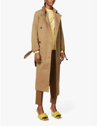 Victoria Victoria Beckham Double-breasted tie-belt cotton-blend twill trench coat