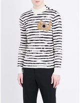 Alexander Mcqueen Embroidered Stripe-print Wool Jumper