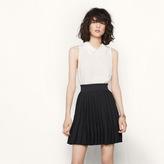 Maje Sunray pleated knit skirt