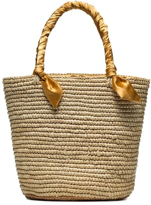 Sensi Studio medium woven basket bag