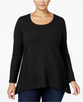 Style&Co. Style & Co Plus Size Pointelle Sweater, Only at Macy's