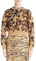 Toga Leopard Jacquard Knit Wool Blend Sweater