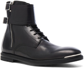 Alexander McQueen Strap Leather Combat Boots