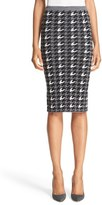 Alice + Olivia 'Delphie' Wool Knit Houndstooth Pencil Skirt