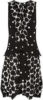 Proenza Schouler Layered printed crepe dress