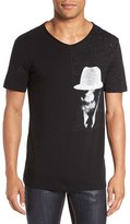 HUGO Men's 'Della's Man' Graphic V-Neck T-Shirt