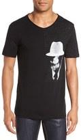 HUGO Men's 'Della's Man' Graphic V-Neck T-Shirt