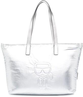 Karl Lagerfeld Paris Ikonik metallic tote bag