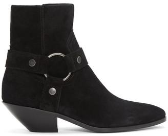 Saint Laurent Black Suede West Boots