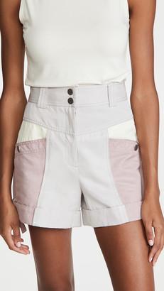 Rebecca Taylor Colorblock Shorts
