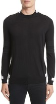 Givenchy Men's Contrast Bands Wool Sweater