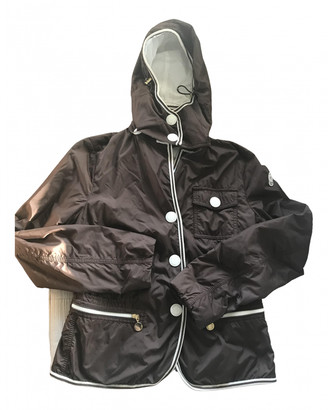 Moncler Brown Polyester Leather jackets