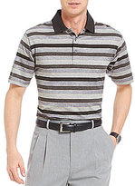 Daniel Cremieux Signature Mercerized Heather Stripe Short-Sleeve Polo Shirt