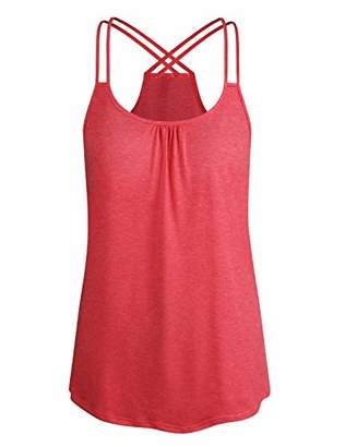 Cyanstyle Womens Loose Tank Tops Dressy Flowy Camisoles Designer Summer Sexy Tops Sleeveless Tunic Maternity Shirts for Women Trendy Boutique Clothes Going Out XXL