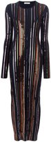 Nina Ricci sequin embellished long fitted dress - women - viscose - S