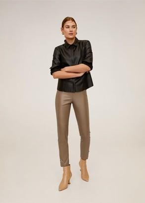 MANGO Seam-detail slim-fit pants brown - XS - Women