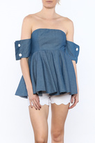 Do & Be Denim Peplum Top