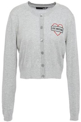 Love Moschino Printed Cotton Cardigan