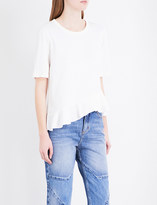 Sandro Asymmetric cotton-jersey T-shirt
