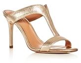 Halston Arya T-Strap Slide Sandals