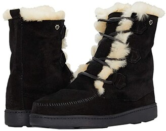 Minnetonka Juniper (Black Suede) Women's Sandals