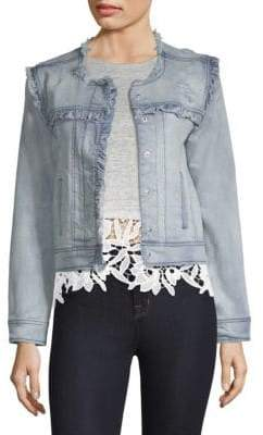 Generation Love Evie Ruffled Distressed Jacket