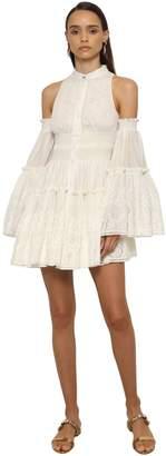 Roberto Cavalli Embroidered Poplin Mini Dress