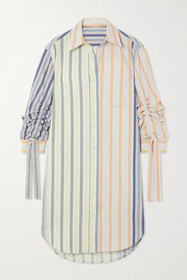 J.W.Anderson Pinstriped Cotton Shirt Dress - White