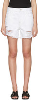 J Brand White Denim Ivy Shorts