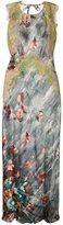 Alberta Ferretti lace detail floral print dress - women - Silk/Rayon/Polyamide - 38