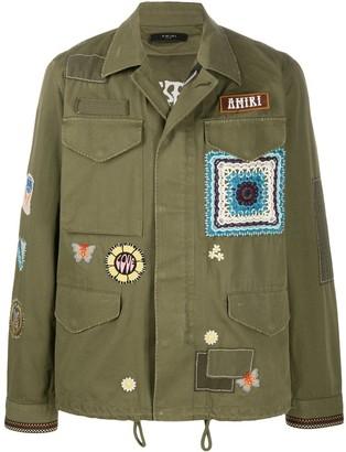 Amiri Long Sleeve Military Jacket