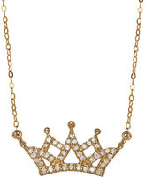 Lord & Taylor 14K Yellow Gold Diamond Crown Necklace
